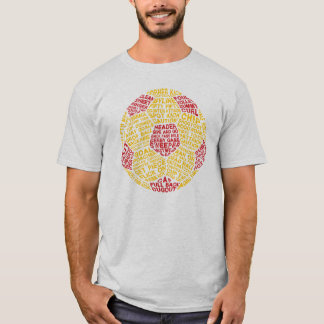 名前及び数Tシャツのサッカーボールのタイポグラフィ Tシャツ
