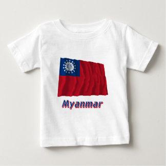 名前1974-2010年のミャンマーの振る旗 ベビーTシャツ