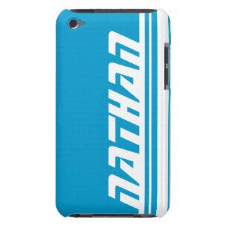 名前6の手紙の青及び白いストライブ柄はiPodの箱を遊ばします Case-Mate iPod Touch ケース