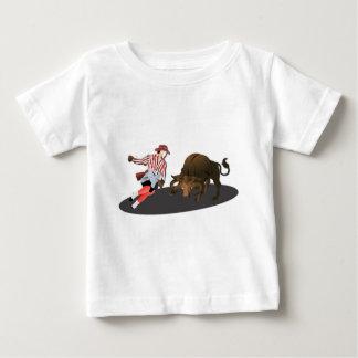 名前: ピエロおよびBullの1文字 ベビーTシャツ