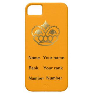 名前、ランクおよび数のオレンジ王冠 iPhone SE/5/5s ケース