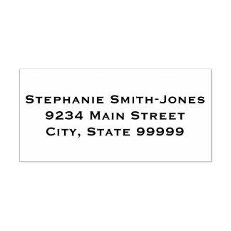 名前、住所、都市、国家、郵便番号 セルフインキングスタンプ