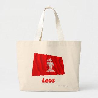 名前(1952-1975年)のラオスの振る旗 ラージトートバッグ