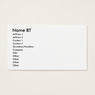 名前BTの住所1の住所2の接触1、Conta… 名刺