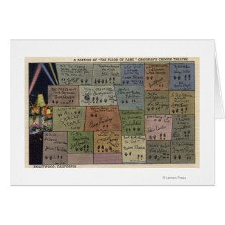 名声、Graumanの中国のな劇場の床 カード