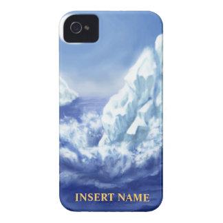 名札の宇宙が付いている氷河iPhoneの穹窖 Case-Mate iPhone 4 ケース