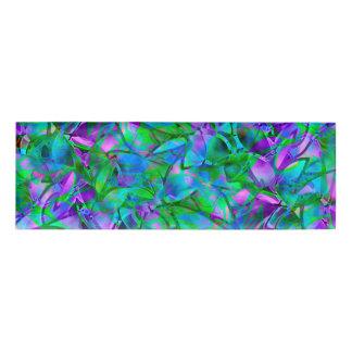 名札の花柄の抽象芸術のステンドグラス 名札