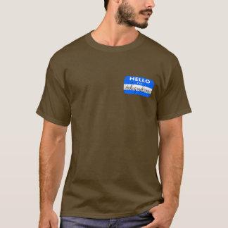 名札-秘密働くこと Tシャツ