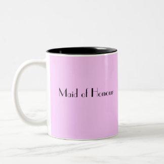 名誉のある女中はマグ感謝していしています ツートーンマグカップ