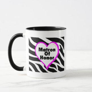 名誉のある婦人(ハートのシマウマは縞で飾ります) マグカップ