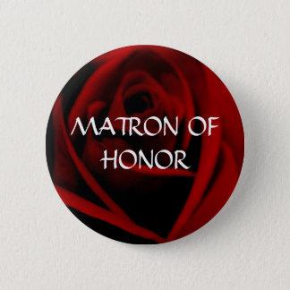 名誉のある婦人-深紅のバラボタン 5.7CM 丸型バッジ