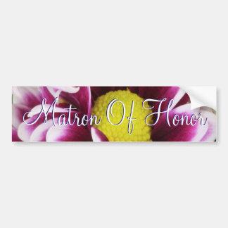名誉のある紫色の花束の婦人 バンパーステッカー