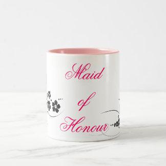 名誉のピンクおよび黒の女中 ツートーンマグカップ