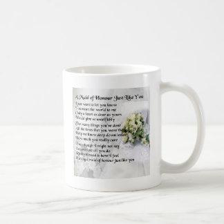名誉の詩-結婚式の花束のデザインの女中 コーヒーマグカップ