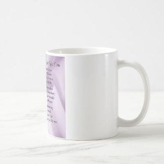 名誉の詩-薄紫の絹のデザインの女中 コーヒーマグカップ