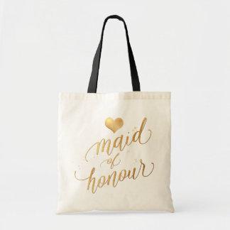名誉またはのどの金ゴールドの原稿のPixDezinesの女中 トートバッグ