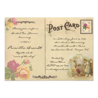 名誉を与える花嫁の茶シャワーは古い郵便はがき3のスタイルを作ります カード