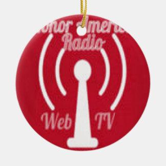 名誉アメリカの無線のくもの巣TVの広告宣伝Irems セラミックオーナメント