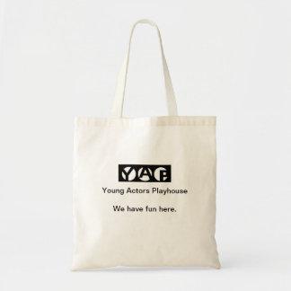 吠え声私達におもしろいのリハーサルのバッグがここにあります トートバッグ