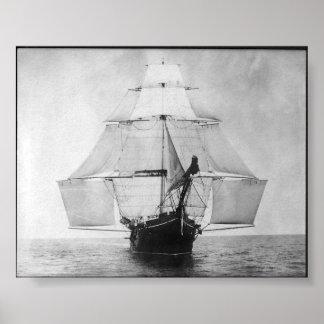 吠え声進行中の1901年 ポスター