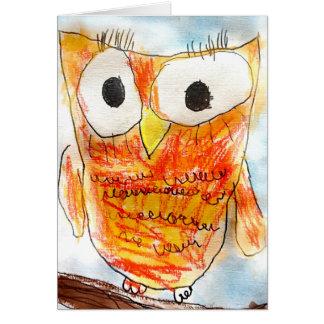 吠え声 デザイナーフクロウ の青年芸術のプロジェクト カード