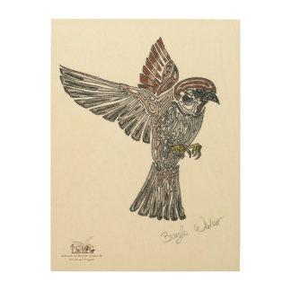 吠え声 種族のSparrowhawk  の青年芸術のプロジェクト ウッドウォールアート