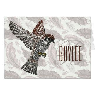 吠え声 種族のSparrowhawk  の青年芸術のプロジェクト カード