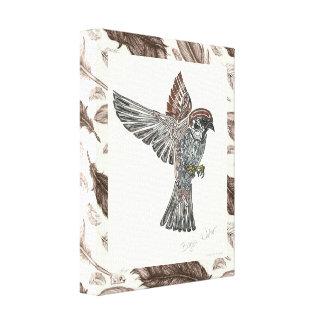 吠え声|種族のSparrowhawk |の青年芸術のプロジェクト キャンバスプリント