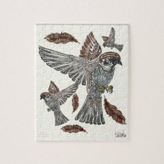吠え声 種族のSparrowhawk  の青年芸術のプロジェクト ジグソーパズル