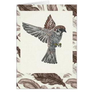 吠え声  Sparrowhawk  の青年芸術のプロジェクト カード