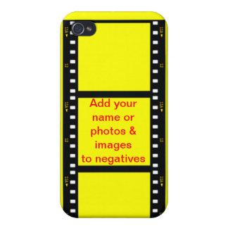 否定的な写真のフィルムは名前及び背景をカスタマイズ iPhone 4/4Sケース