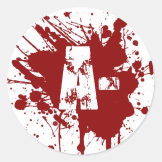 否定的な血液型寄付の吸血鬼のゾンビ ラウンドシール