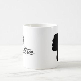 否定的な親指を襲います考えて下さい コーヒーマグカップ