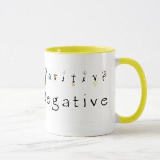 否定的に陽性とどまることを考えます マグカップ