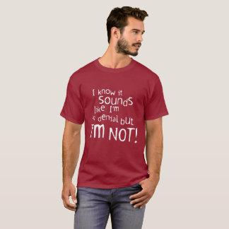 """""""否定"""" Tシャツ"""