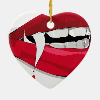 吸血鬼の唇 セラミックオーナメント