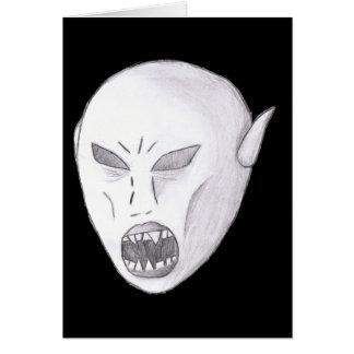 吸血鬼の悪鬼のスケッチ カード