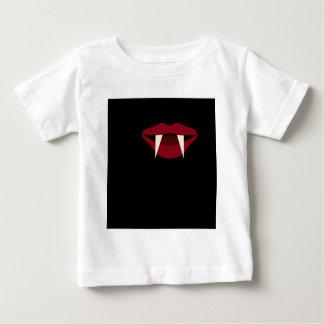 吸血鬼の牙のBlood Red唇 ベビーTシャツ