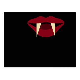 吸血鬼の牙のBlood Red唇 ポストカード
