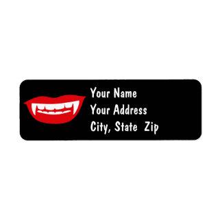 吸血鬼の牙 ラベル