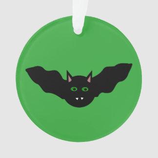 吸血鬼の猫によって直面されるこうもりのハロウィンのアクリルのオーナメント オーナメント