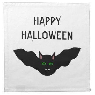 吸血鬼の猫によって直面されるこうもりのハロウィンのカスタムなパーティーNapki ナプキンクロス