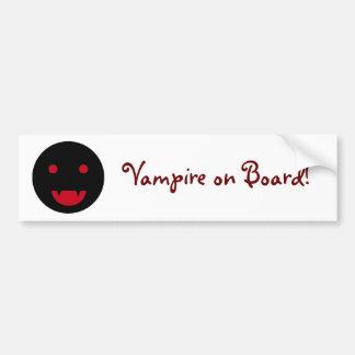 吸血鬼の船上にバンパーステッカー バンパーステッカー