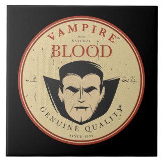 吸血鬼の血のヴィンテージのハロウィンのラベル タイル