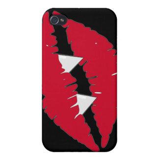 吸血鬼の赤い唇nの牙 iPhone 4/4S case