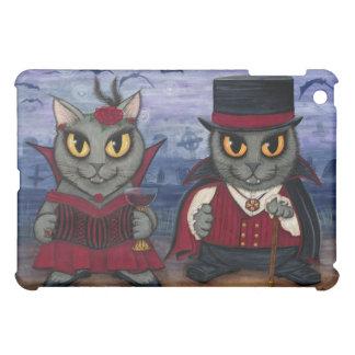 吸血鬼猫のカップルのゴシック様式墓地のファンタジーの芸術のiPa iPad Miniケース