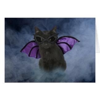 吸血鬼猫のハロウィンカード カード