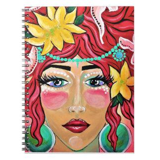 吹かれる接吻される風および太陽 ノートブック