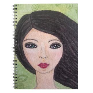 吹きさらしの女の子のノート ノートブック