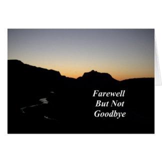告別しかしないさようなら日没の川場面 カード